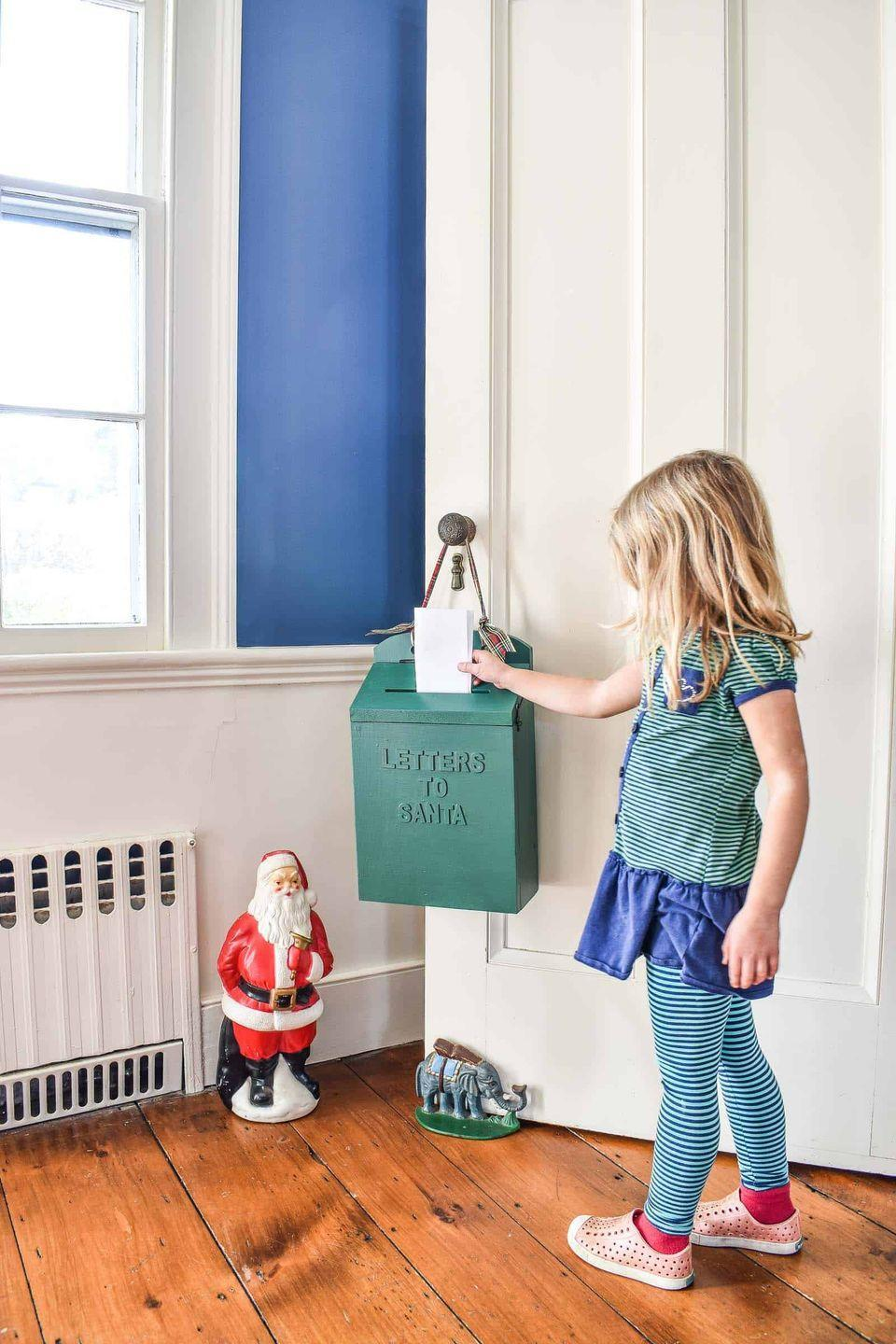 "<p>This wooden ""Letters to Santa"" mailbox will continue to make a sweet holiday decoration, no matter how old your kids are.</p><p><strong>Get the tutorial at <a href=""https://atcharlotteshouse.com/diy-santa-mailbox/"" rel=""nofollow noopener"" target=""_blank"" data-ylk=""slk:at Charlotte's House"" class=""link rapid-noclick-resp"">at Charlotte's House</a>.</strong></p><p><a class=""link rapid-noclick-resp"" href=""https://www.amazon.com/slp/wood-letters-craft-decorations/f9ekfz92rghe4c5?tag=syn-yahoo-20&ascsubtag=%5Bartid%7C10050.g.33605249%5Bsrc%7Cyahoo-us"" rel=""nofollow noopener"" target=""_blank"" data-ylk=""slk:SHOP WOOD CRAFT LETTERS"">SHOP WOOD CRAFT LETTERS</a><br></p>"