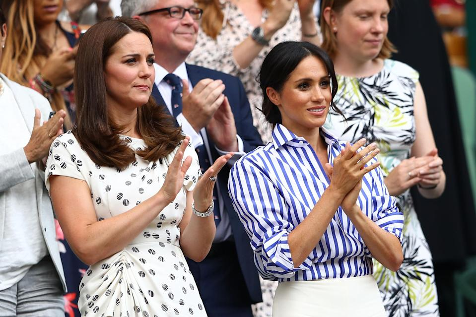 Kate and Meghan watched Serena at the Wimbledon final last July [Photo: Getty]