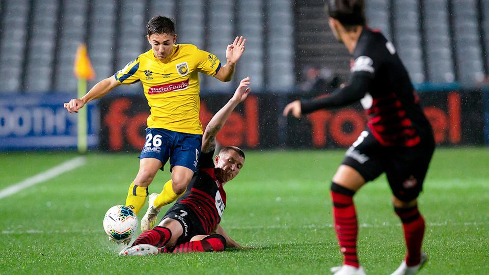 Western Sydney Wanderers and Central Coast Mariners, pictured here during their draw in the A-League.