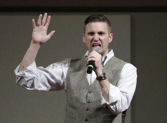Richard Spencer, who leads a movement that mixes racism, white nationalism and populism, speaks at Texas A&M University in December. (Photo: David J. Phillip/AP)