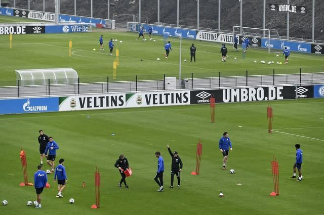 Bundesliga club Schalke back in training (Martin Meissner/AP)