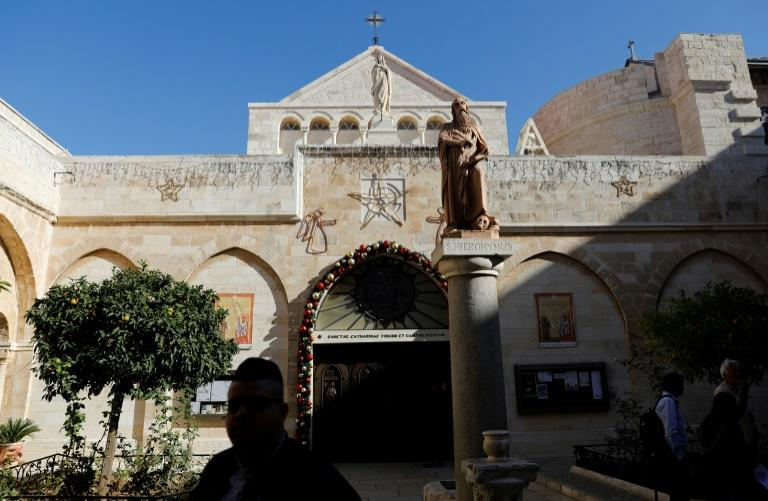 The Church of the Nativity, built where it is believed Jesus was born, is in Bethlehem in the West Bank, where Gaza residents must get Israeli permission to visit (AFP Photo/AHMAD GHARABLI)