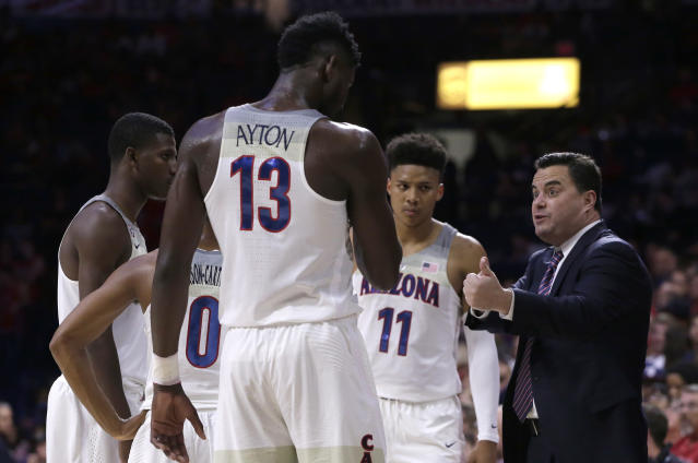 Second-ranked Arizona capped an 0-3 week in the Bahamas on Friday night with a blowout loss to Purdue. (AP)