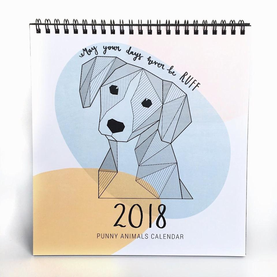 <p>For anyone and everyone – shoppapercranes' PUNNY GEOMETRIC ANIMALS | 2018 Desk Calendar ($14)</p>