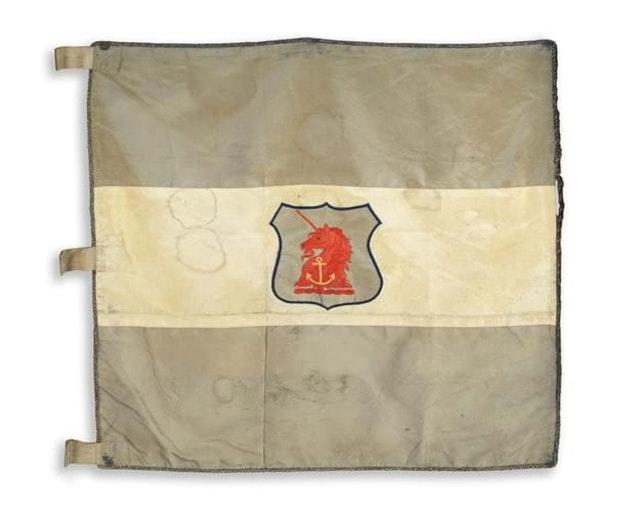 The flag from Ernest Shackleton's Nimrod Antarctic Expedition of 1907-09, which has been acquired by the National Maritime Museum and the Scott Polar Research Institute