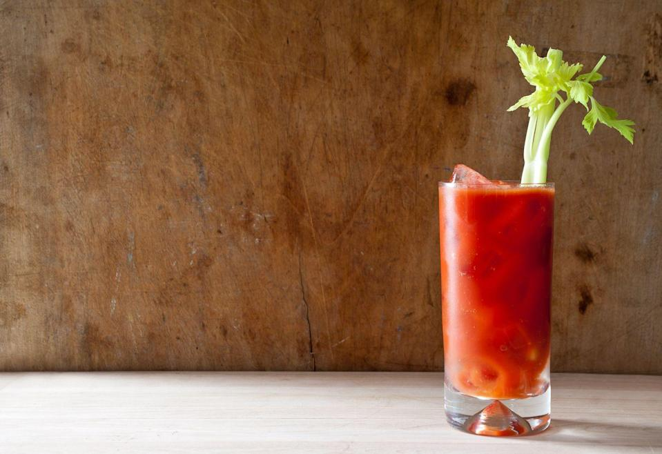 """<p>The savory Bloody Mary has nursed (or created) many a hangover. The original was served by the bartender at the King Cole Bar in New York's St Regis Hotel as early as 1934 and was known for some years as a Red Snapper (the owner of the hotel reportedly didn't like the original — and now current — name.)</p><p><em><a href=""""https://www.goodhousekeeping.com/food-recipes/a5790/perfect-bloody-mary-2347/"""" rel=""""nofollow noopener"""" target=""""_blank"""" data-ylk=""""slk:Get the recipe for Bloody Mary »"""" class=""""link rapid-noclick-resp"""">Get the recipe for Bloody Mary »</a></em> </p>"""