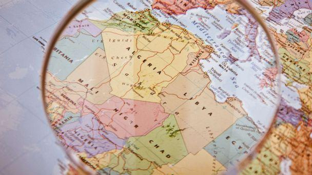 PHOTO: A magnifying glass hovers over a map of North and West Africa in this undated stock photo. (STOCK PHOTO/Getty Images)