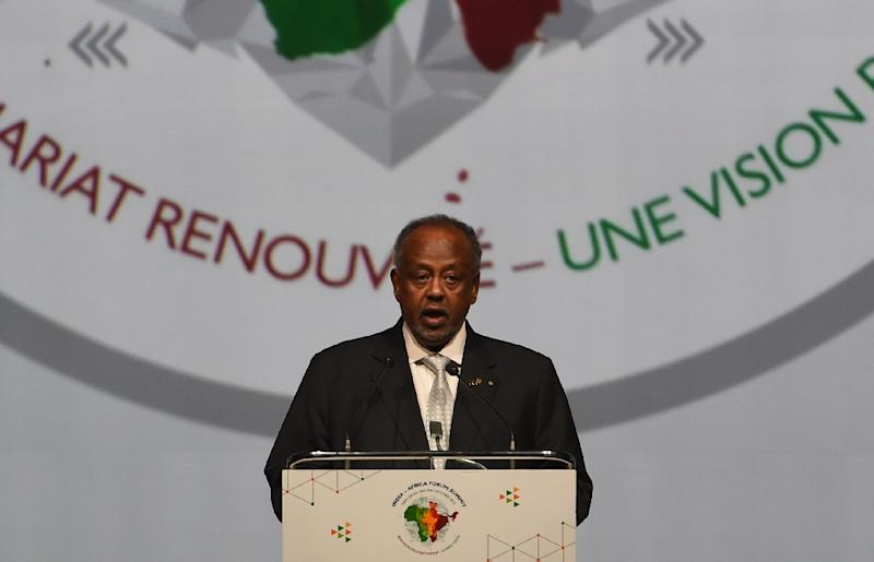 """In May, Djibouti President Ismail Omar Guelleh told AFP that """"discussions are ongoing"""" with China for a military base in the tiny Horn of Africa nation, saying that Beijing's presence would be """"welcome"""" (AFP Photo/Money Sharma)"""