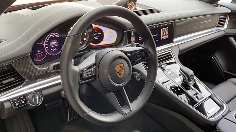 Porsche Panamera Turbo S instrument panel and center console.