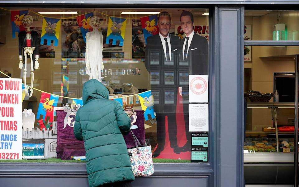 Shops and businesses in Abergele have decorated their windows to welcome the cast of I'm A Celebrity... - Christopher Furlong/Getty