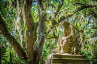 """<p>Savannah, Georgia is full of charm—and ghost stories. So of course it's home to some of the most beautiful cemeteries (yes, cemeteries; stay with me here!) in the world. All 100+ of <a href=""""https://www.bonaventurehistorical.org/"""" rel=""""nofollow noopener"""" target=""""_blank"""" data-ylk=""""slk:Bonaventure Cemetery"""" class=""""link rapid-noclick-resp"""">Bonaventure Cemetery</a>'s acres are <em>stun-ning</em>! The stone carvings, the surrounding nature, the serene quiet—it's no wonder the over 170-year-old destination tops the list of must-sees for anyone staying in-town. Pro tip: <a href=""""https://www.bonaventurehistorical.org/tours/"""" rel=""""nofollow noopener"""" target=""""_blank"""" data-ylk=""""slk:Check out"""" class=""""link rapid-noclick-resp"""">Check out</a> the schedule of free guided weekend tours by the Bonaventure Historical Society to plan your visit.<br></p>"""