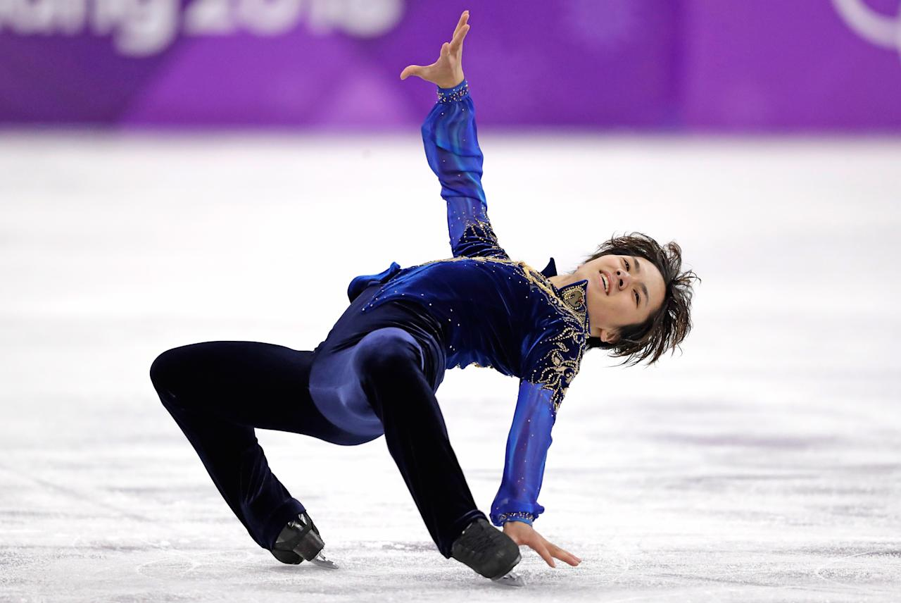 <p>Shoma Uno of Japan performs during the men's free figure skating final in the Gangneung Ice Arena at the 2018 Winter Olympics in Gangneung, South Korea, Saturday, Feb. 17, 2018. (AP Photo/Bernat Armangue) </p>