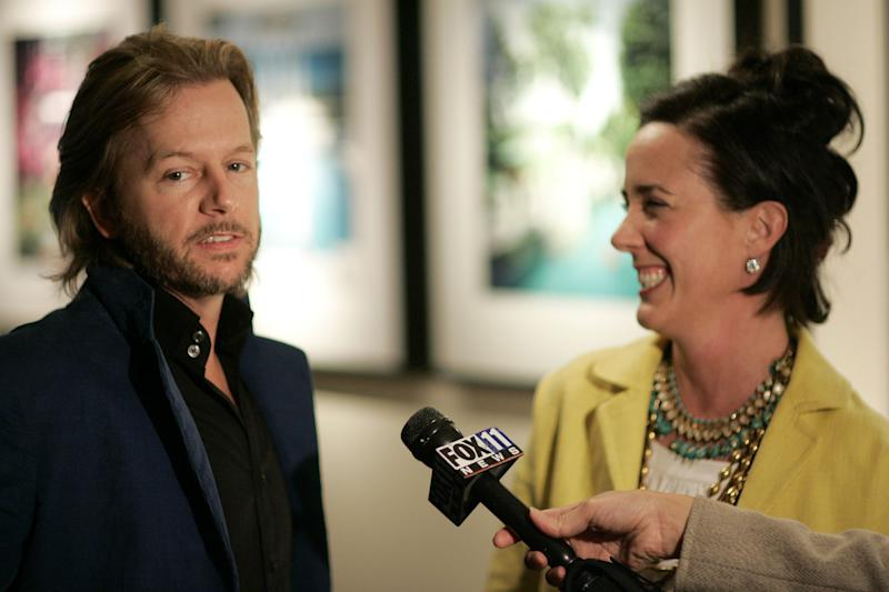 David Spade and Kate Spade during Photographer's Gallery Presents Slim Aarons Curated by Kate Spade at Fred Segal Cafe in West Hollywood, California, United States. (Photo by Chris Weeks/WireImage)