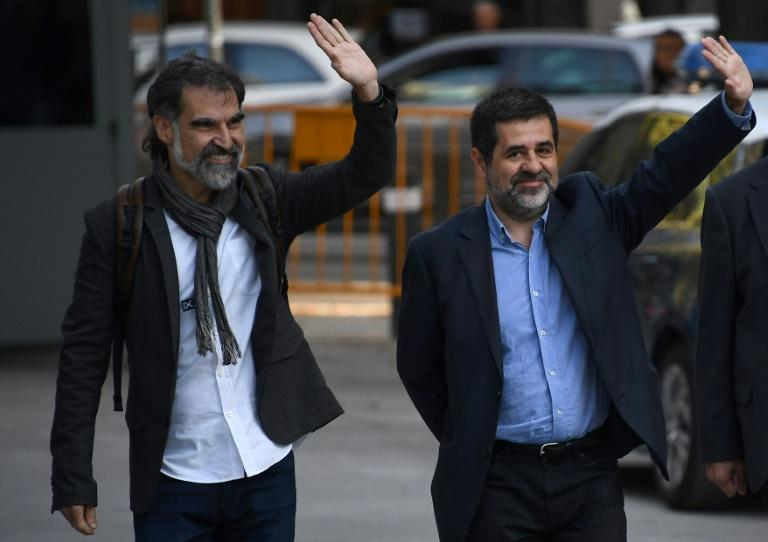 Jordi Sanchez and Jordi Cuixart have been remanded in custody on charges of sedition