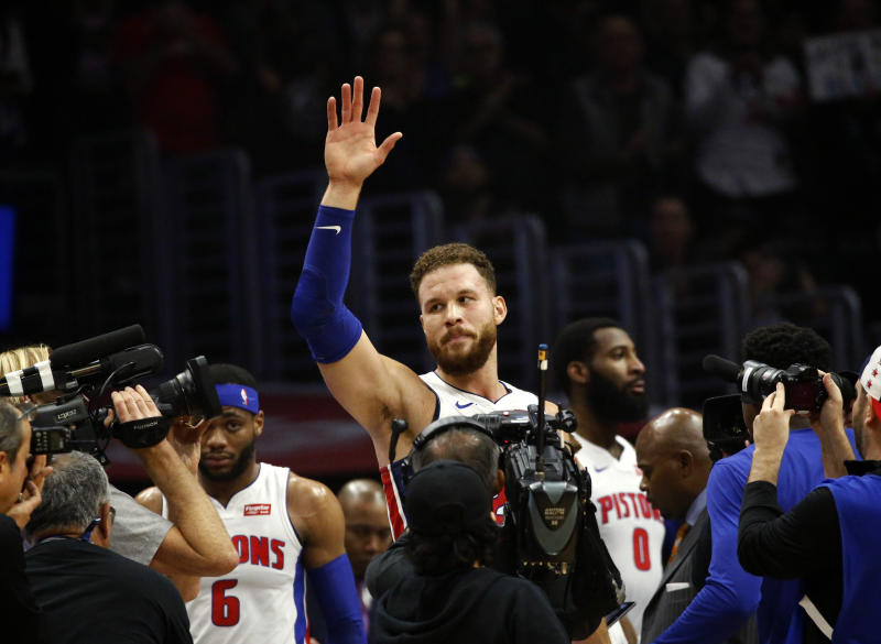 Ex-Clippers F Griffin scores 44 in Pistons' win