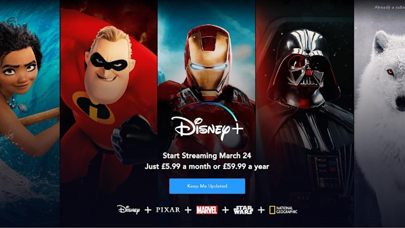 Disney+ streaming service's UK launch date revealed