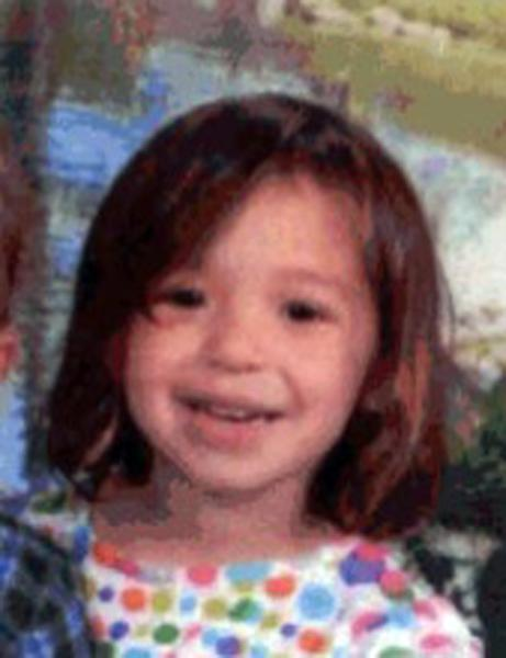 This image provided by the South San Francisco Police Department shows Brooklynn Maffei, 3, who was rescued from a sailboat Sept. 7, 2012 after being abducted by their father, Christopher Maffei, in California.(AP Photo/South San Francisco Police Department)