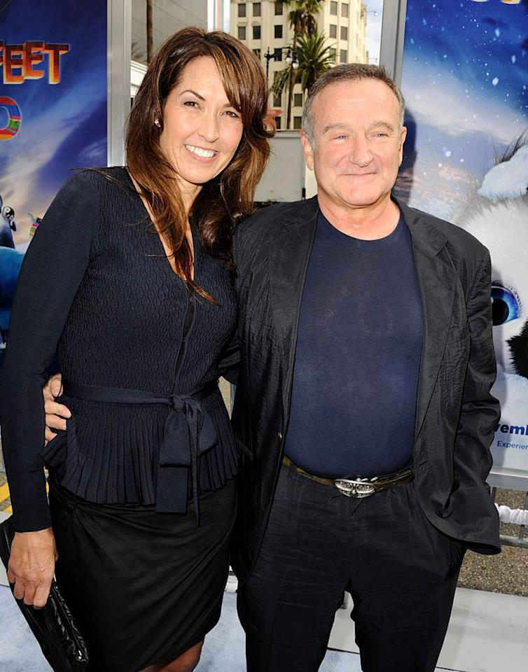 Besides the Royal Wedding, it sounds like Robin Williams' nuptials with his girlfriend of four years Susan Schneider was the hottest ticket in town this year! On October 23, Hollywood heavyweights such as Steven Spielberg, Billy Crystal, and George Lucas gathered to bless the union at Meadowood Resort in St. Helena, California. Hmm, perhaps our invite got lost in the mail? (11/13/2011)
