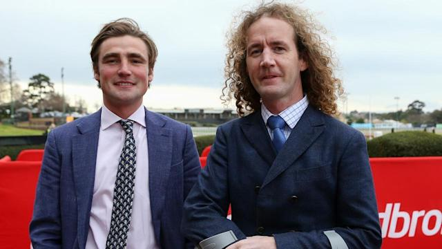 David Eustace (l) and Ciaron Maher (r) were fined $7,500 after Piccatric returned a positive swab