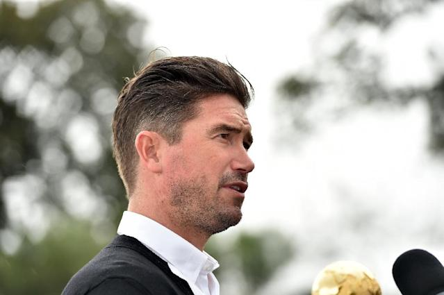 Former Australian football player Harry Kewell has been appointed as the new manager of English fourth-tier club Crawley Town (AFP Photo/SAEED KHAN)