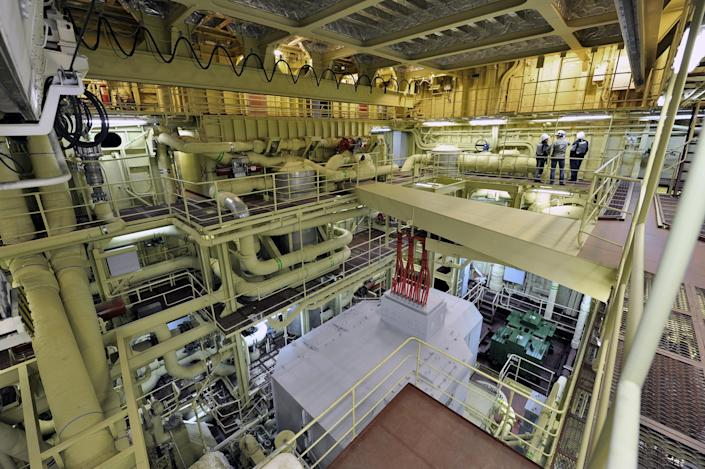 Russia floating power plant interior 2