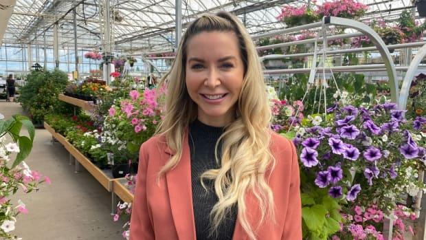 Nikkivan Duyvendyk,co-owner of Dutch Growers, at the company's store in Saskatoon, Sask., on June 23, 2021.   (Don Somers/CBC News - image credit)