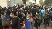 Hong Kong dissidents charged with subversion, hundreds show support outside court
