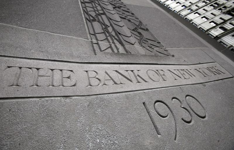 In this June 13, 2011 photo, the Bank of New York Mellon building is shown, in New York.  Bank of New York Mellon Corp. said Wednesday, Aug, 10, 2011, that it will cut about 1,500 jobs, or 3 percent of its work force, the latest sign of the banking industry's painful shrinking. (AP Photo/Richard Drew)