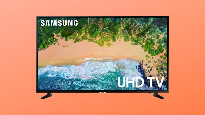 Samsung's 4K TV includes three HDMI ports and two USB port. (Photo: Walmart/Yahoo Lifestyle)