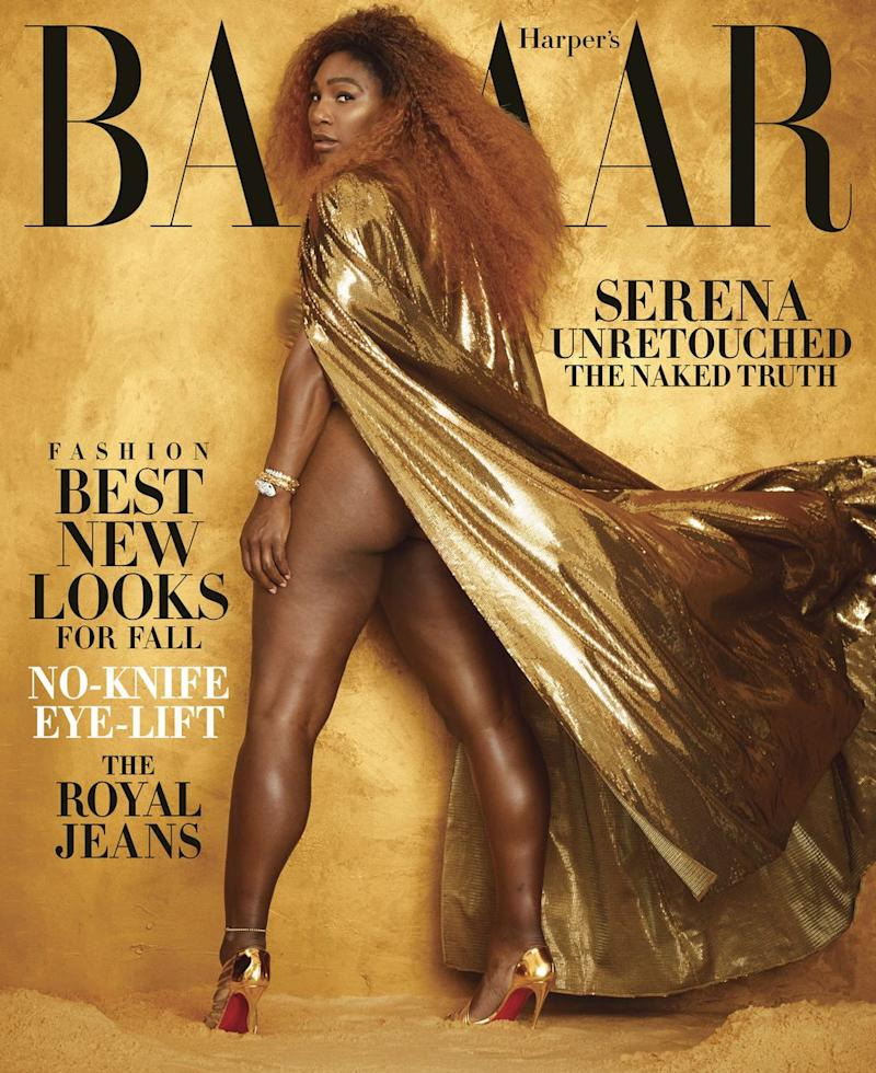 Serena Williams appears on the cover of the August 2019 of Harper's Bazaar [Photo: Harper's Bazaar]