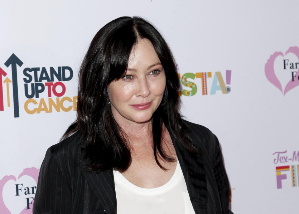 Shannen Doherty attends the Farrah Fawcett Foundation's Tex-Mex Fiesta at Wallis Annenberg Center for the Performing Arts on September 06, 2019 in Beverly Hills, California. (Photo by Tibrina Hobson/WireImage)