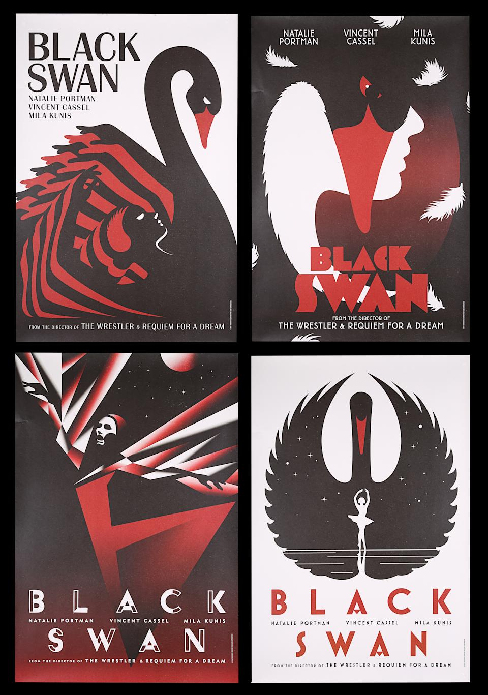 <p>BLACK SWAN (2010) - Set of Four One-Sheets, 2010 est. £800 - £1,200 (Prop Store)</p>