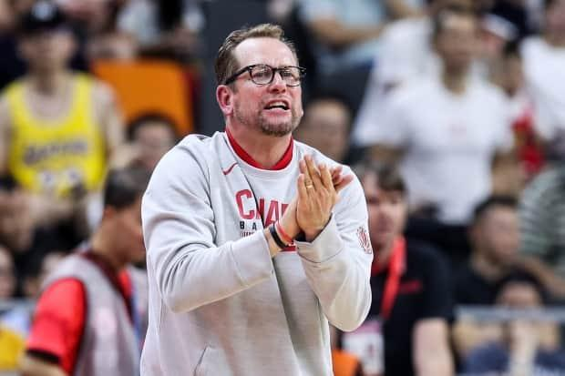 Canada head coach Nick Nurse, seen above in 2019, characterized the modern day talent pool as a 'golden age' for basketball in the country, assuring that even more is coming. (Zhizhao Wu/Getty Images - image credit)