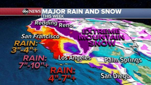 PHOTO: Several feet of snow could make travel through mountain passes impossible and quite dangerous.  (ABC News)