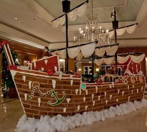 The World's Largest Gingerbread Pirate Ship Launches the Holiday Season at the Ritz-Carlton, Amelia Island