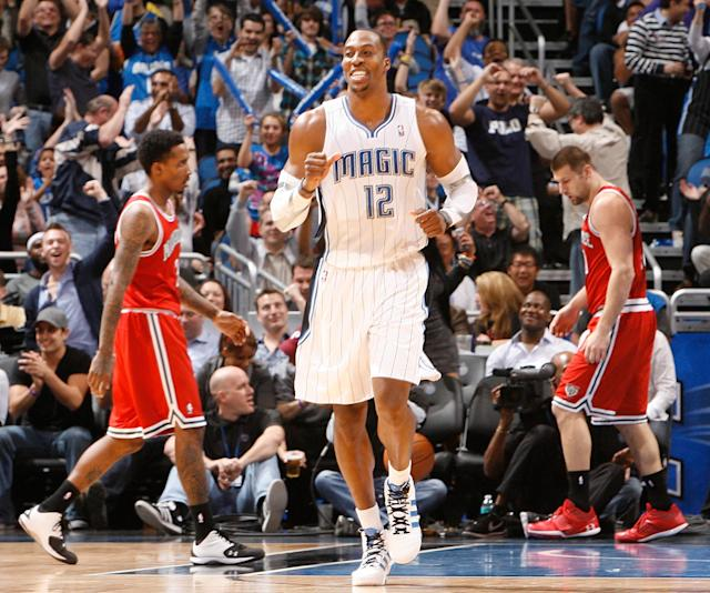 Seeing Dwight Howard in a Magic jersey just feels right.(Getty Images)