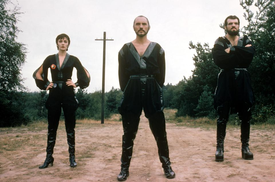 Sarah Douglas, Terrence Stamp and Jack O'Halloran in Superman II (Warner Bros.)