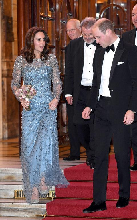 <span>Kate and William leaving the Palladium theatre</span> <span>Credit: Wireimage </span>