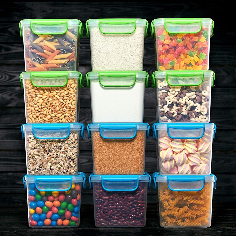 <p>Get organized with these <span>12 Airtight Food Storage Containers</span> ($20, originally $40).</p>
