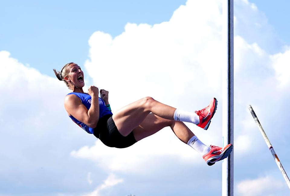 Holly Bradshaw is a pole-vault medal hope (Martin Rickett/PA) (PA Wire)