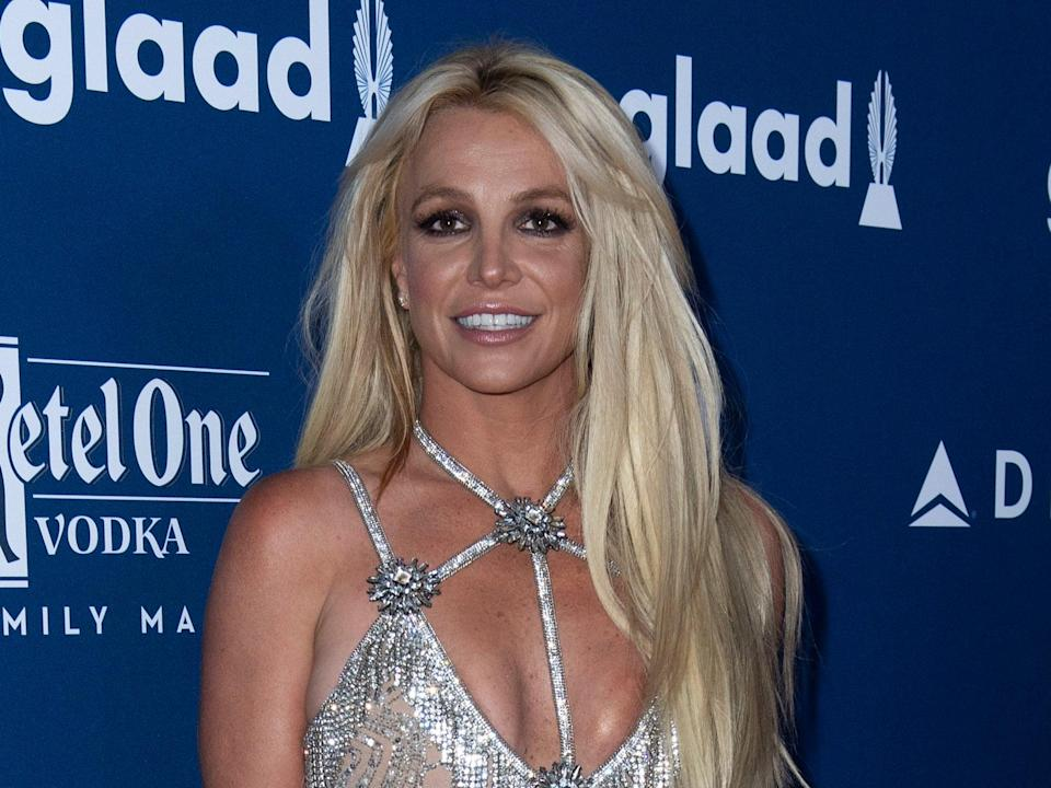 Britney Spears at the GLAAD Media Awards at the Beverly Hilton on 12 April 2018 in Beverly Hills, California (VALERIE MACON/AFP via Getty Images)