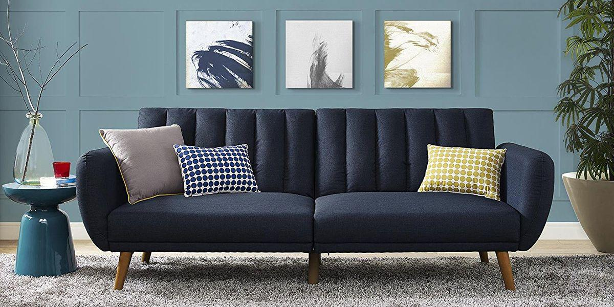 <p>The slouchy old sofas of your dorm-room days have no place in the post-grad pad. We picked 10 extra-stylish and mature futons that can easily convert into a bed for accommodating overnight guests.</p>
