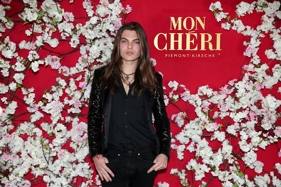 Fans were left thinking Damian Hurley had cut his long locks, pictured in December 2019. (Photo by Gisela Schober/Getty Images for Mon Cheri)