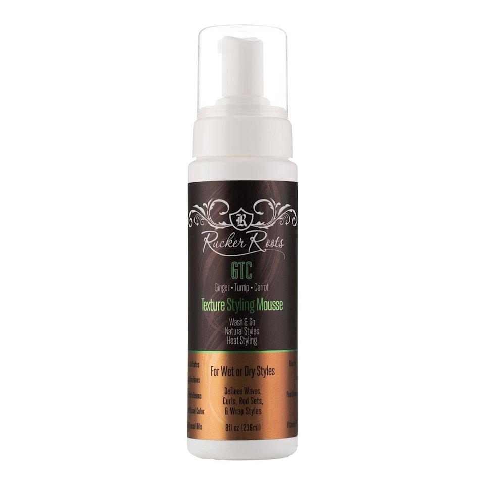 """<p>Lots of mousses can be drying but this Rucker Roots Texture Hair Styling Mousse has moisturizing <a href=""""https://www.allure.com/story/vitamin-e-skin-care?mbid=synd_yahoo_rss"""" rel=""""nofollow noopener"""" target=""""_blank"""" data-ylk=""""slk:vitamin E"""" class=""""link rapid-noclick-resp"""">vitamin E</a> and biotin to make hair stronger with each use. This 2020 <a href=""""https://www.allure.com/story/best-of-beauty-awards-2020?mbid=synd_yahoo_rss"""" rel=""""nofollow noopener"""" target=""""_blank"""" data-ylk=""""slk:Best of Beauty"""" class=""""link rapid-noclick-resp"""">Best of Beauty</a> winner shines while styling your <a href=""""https://www.allure.com/story/how-to-wash-and-go-hairstyle?mbid=synd_yahoo_rss"""" rel=""""nofollow noopener"""" target=""""_blank"""" data-ylk=""""slk:wash-and-gos"""" class=""""link rapid-noclick-resp"""">wash-and-gos</a> or setting a <a href=""""https://www.allure.com/story/how-to-use-flexi-rods?mbid=synd_yahoo_rss"""" rel=""""nofollow noopener"""" target=""""_blank"""" data-ylk=""""slk:flexi-rod"""" class=""""link rapid-noclick-resp"""">flexi-rod</a> or <a href=""""https://www.allure.com/story/how-to-do-a-twist-out-hairstyle?mbid=synd_yahoo_rss"""" rel=""""nofollow noopener"""" target=""""_blank"""" data-ylk=""""slk:twist-out style"""" class=""""link rapid-noclick-resp"""">twist-out style</a>.</p> <p><strong>$14</strong> (<a href=""""https://ruckerroots.com/products/texture-styling-mousse-new-gtc-collection"""" rel=""""nofollow noopener"""" target=""""_blank"""" data-ylk=""""slk:Shop Now"""" class=""""link rapid-noclick-resp"""">Shop Now</a>)</p>"""