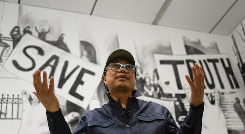 Thai artist Rirkrit Tiravanija is betting that a communal dining experience can break down the often artificial barriers that separate people (AFP Photo/ANDREW CABALLERO-REYNOLDS)