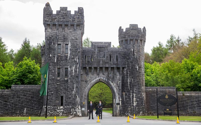 Ashford Castle in Co Mayo, where Golf star Rory McIlroy is to marry Erica Stoll. - Credit: PA Wire