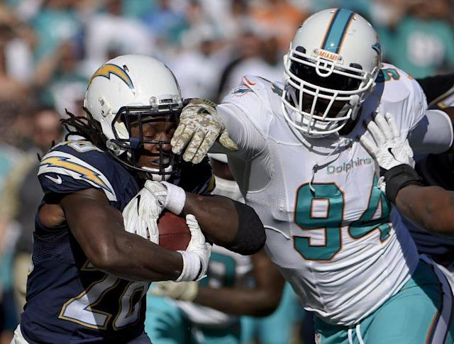 Mario Williams was among the players the Dolphins cut Thursday. (AP)