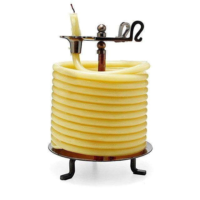 Coiled Beeswax Candle
