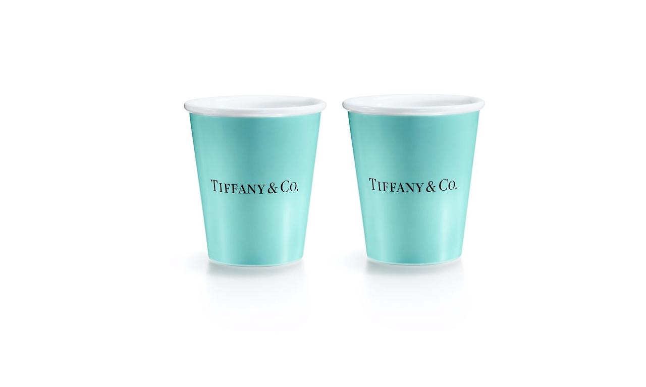 """<p>Bone China """"paper"""" cup, $95, <a rel=""""nofollow"""" href=""""http://www.tiffany.com/accessories/decorative-accents/everyday-objects-bone-china-paper-cup-60558930?trackpdp=p"""">tiffany.com</a> </p>"""