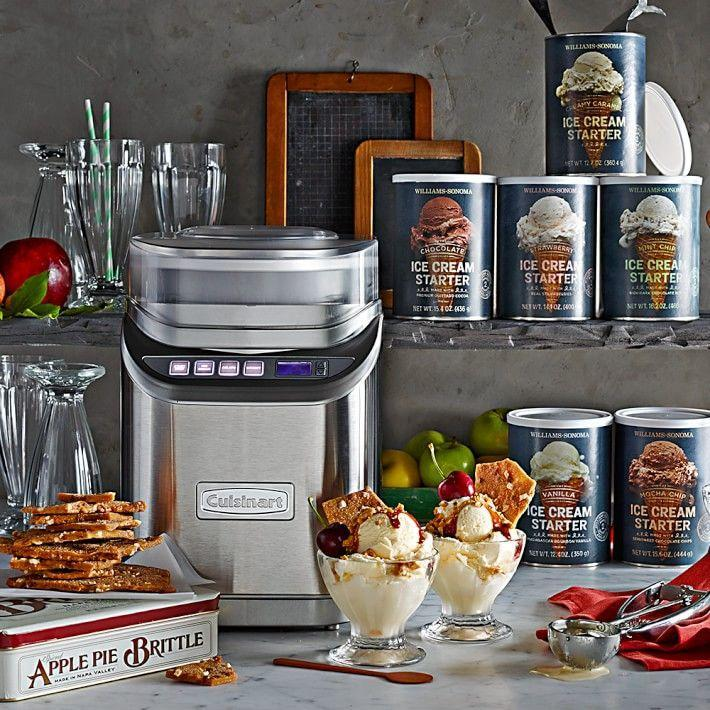 """<p>williams-sonoma.com</p><p><strong>$139.95</strong></p><p><a href=""""https://go.redirectingat.com?id=74968X1596630&url=https%3A%2F%2Fwww.williams-sonoma.com%2Fproducts%2Fcuisinart-electric-ice-cream-maker-ice-70&sref=https%3A%2F%2Fwww.thepioneerwoman.com%2Ffood-cooking%2Fg36080315%2Fbest-ice-cream-makers%2F"""" rel=""""nofollow noopener"""" target=""""_blank"""" data-ylk=""""slk:Shop Now"""" class=""""link rapid-noclick-resp"""">Shop Now</a></p><p>If you want to make ice cream like a pro, this pick might just do the trick! In 20 minutes you can have up to two quarts of ice cream—plus the lid has integrated measuring cups, perfect for adding your fave mix-ins.</p>"""